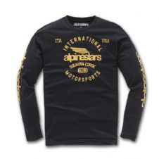ALPINESTARS WINGED MOTO PREMIUM LONG SLEEVE T SHIRT BLACK